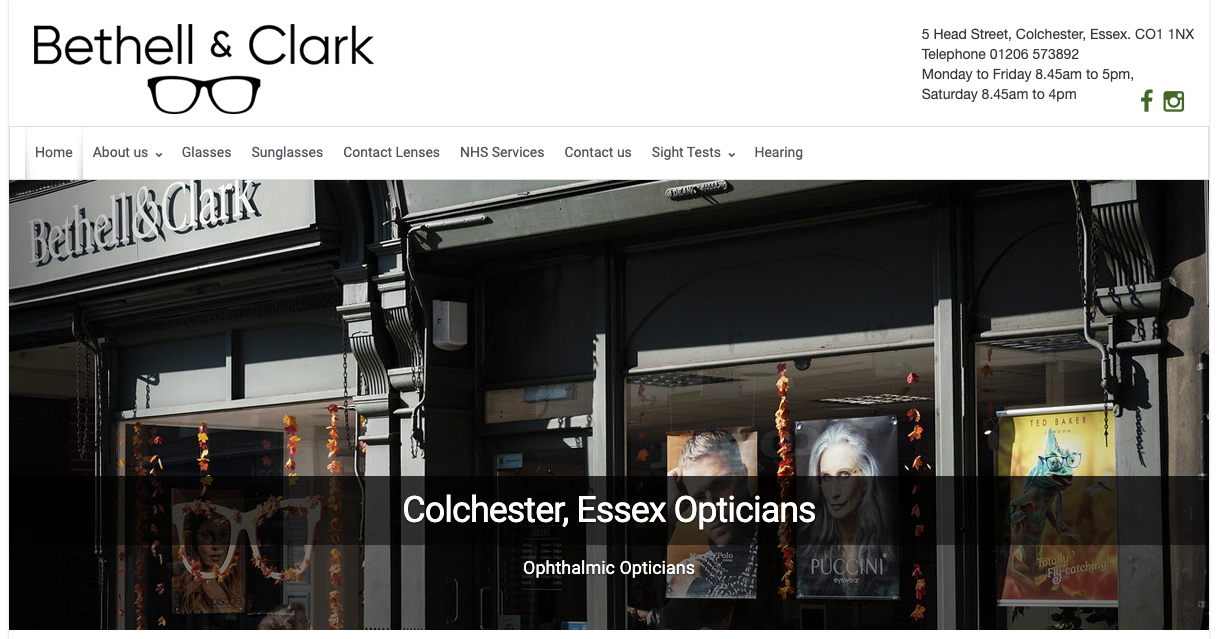 Website design / development for Bethell & Clark by CWS Farnborough