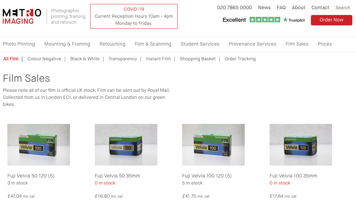 Woocommerce screenshot of ecommerce website development by CWS Islington